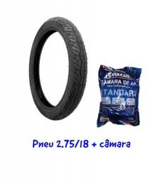 Título do anúncio: Pneu + Câmara Dianteiro Ybr125 Cg Titan Fan Start 125/150/160