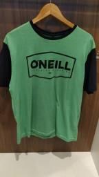 Camiseta Oneill Fader Verde e Preta ( nova )