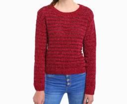 Título do anúncio: Suéter tricô com fios de lurex