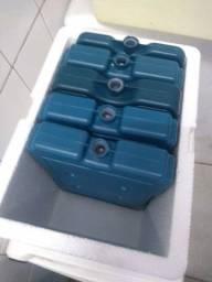 Caixa térmica de isopor e placas gelotech gelo gel