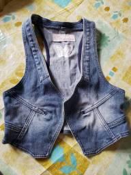 Colete Jeans da Marisa,Tamanho:44,Apenas $20,00