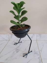 Suporte de chão pé de galinha p/ plantas ferro maciço