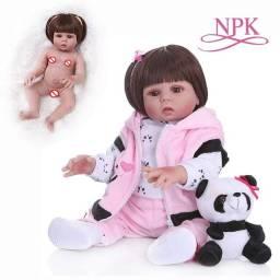 Boneca panda corpo de silicone PRONTA ENTREGA