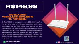 Roteador Wireless 300mbps 2 antenas 5bBi 2 portas Lan TL-WR820N tp-link