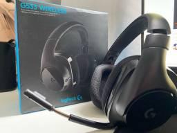 Headset Logitech Sem fio G533 - Wireless - Gamer
