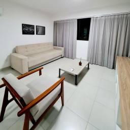 (PM) Flat Alto Padrão mobiliado 1 quarto com home office em boa viagem