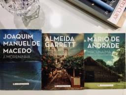 Livros A moreninha, Viagens na minha terra e Macunaíma