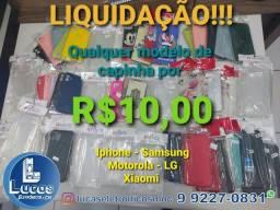LIQUIDAÇÃO de capinhas- Qualquer modelo R$10,00