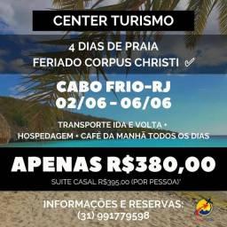 4 DIAS DE PRAIA CABO FRIO-RJ