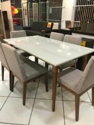 Mesa de jantar de alto padrão c/6 cadeiras