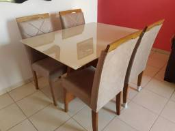 Mesa PRISMA retangular 4 cadeiras