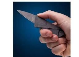 Faca Cartão Canivete Dobrável (cabe na carteira)