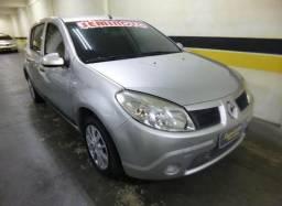 Renault sandero expression 1.6 8v flex 2010/2011 prata - 2011