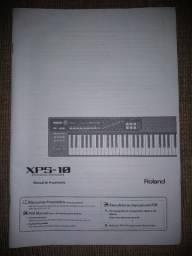 Manual do teclado Roland XPs10 - Original