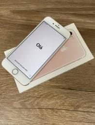 IPhone 7 128 Gb Rosé Gold perfeito! Grátis capinhas e película gel