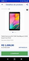 Título do anúncio: Tablet Samsung tab 10 32 gigas baixei pra vender hoje