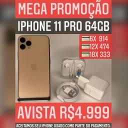 iPhone 11 Pro 64gb, aceitamos seu iPhone usado como parte do pagamento