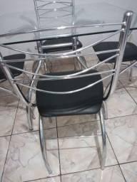 Título do anúncio: Mesa e cadeiras inox