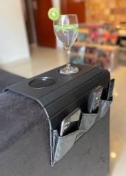 Bandeja de sofa porta e copo e controle costurada - c368