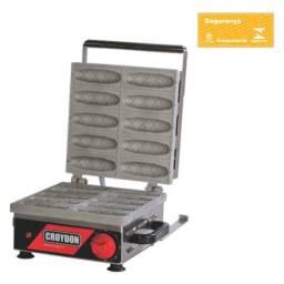 Título do anúncio: Máquina De Crepe Elétrica Profissional Aço Inox 10 Cavidades Croydon