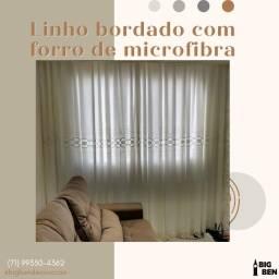 Título do anúncio: Linho bordado com forro de microfibra 03