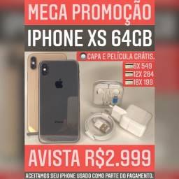 iPhone XS 64gb, aceitamos seu iPhone usado como parte do pagamento.