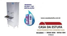 Bebedouro Inox Industrial Coluna e com Torneiras  25, 50, 100 e 200 L
