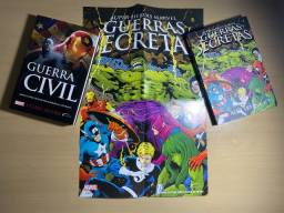 Título do anúncio: Kit Guerra Civil + Guerras Secretas + Pôster (Livros)