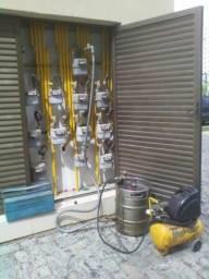 vazamento na tubulação de gás teste (Estanquiedade) RJ