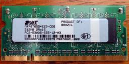 Título do anúncio: Memória para notebook 512mb DDR2 - Smart