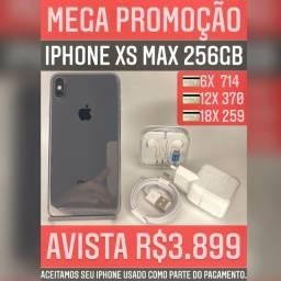 iPhone XS Max 256gb, somos loja, aceitamos seu iPhone usado como parte do pagamento.