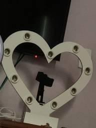 Ring light coração