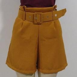 Título do anúncio: Shorts com Cinto - [Tamanhos P ao G]
