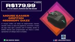 Mouse Griffon 4000 Dpi com 17 Botões- Usb Dazz