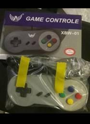Controle Retro Games USB Super Nintendo e PC