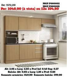 Saldão em MS- Armario de Cozinha -Cozinha Compactado c/Balcão Belissima-Gourmet-Area Lazer