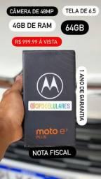 Motorola e7 plus na caixa 1 ano de garantia