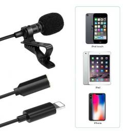 Título do anúncio: Microfone de lapela iPhones Lightning Adaptador 1.5m Cabo