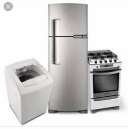 Máquina de lavar e geladeira - Conserto a domicilio