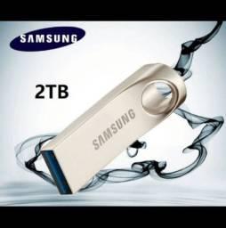Pendrive 2 Tera 2Tb Samsung Aço Inoxidável