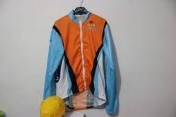 Blusa corta-vento para ciclismo tamanho P
