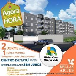Apartamentos no Centro de Tatuí-SP ao lado do Bellas Artes obras aceleradas!