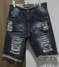Bermuda Jeans Rasgada N° 36 - Mega OFF