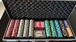 Maleta de Poker 500 fichas - numeradas e holográficas