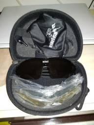 Óculo polarizado com + 4 lentes extras + case + acessórios