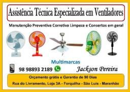 Assistência Técnica Especializada em Manutenção de Ventiladores