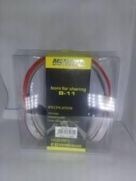 Fones de ouvido MP3 player, Bluetooth e rádio FM