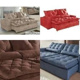 Sofá Elegance Retrátil e Reclinável Temos várias cores- Envie seu pedido *