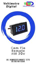 Voltímetro Digital com Remote até 30v