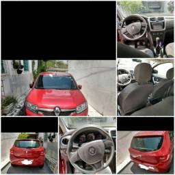 Renault Sandero vermelho completo 30 mil